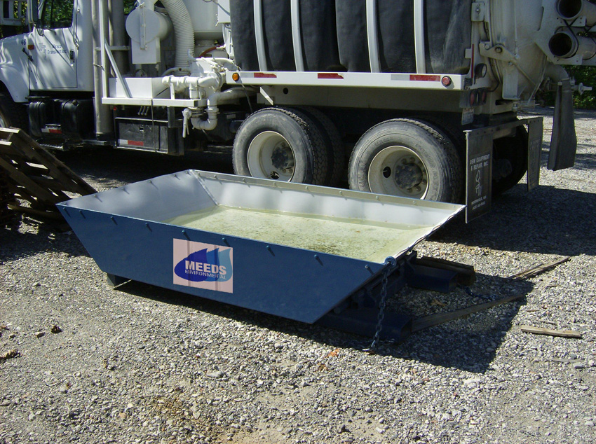 expanded view of our concrete washout container